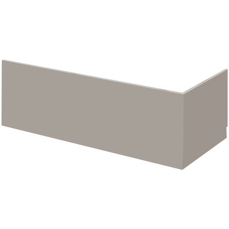 Nuie MPC412 Athena | Modern Bathroom End Bath Panel, 730mm, Stone Grey