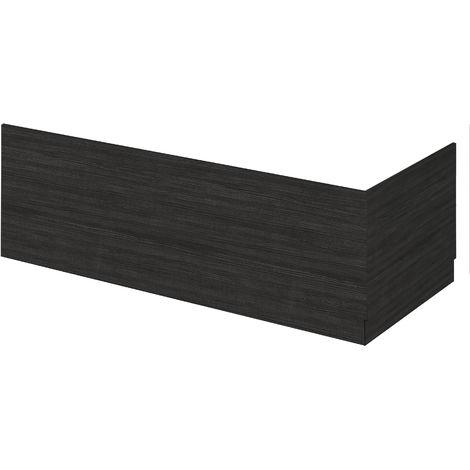Nuie MPD612 Athena | Modern Bathroom MFC End Panel For Straight Baths, 750mm, Hacienda Black