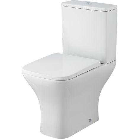 Nuie NCG450 Ava | Pan, Cistern & Seat, Gloss Grey