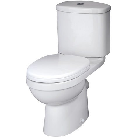 Nuie NCS250 Ivo | Pan & Cistern, White