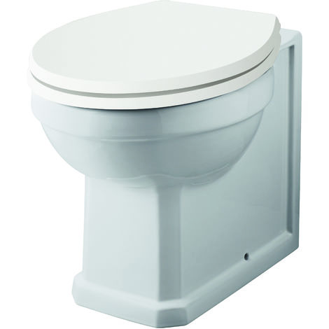 Nuie NCS806 Carlton | Back To Wall Pan, White