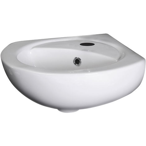 Nuie NCU862 Wall Hung Basins | Corner Wall Hung Basin, White