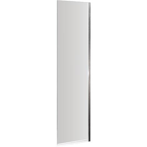 Nuie NSSF1   Modern Bathroom Fixed Bath Screen For Straight Shower Baths, 350mm x 1400mm, Chrome