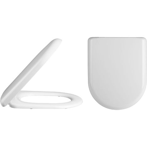 Nuie NTS002 Toilet Seats | D Shaped Soft Close Toilet Seat , White