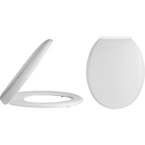 Nuie NTS008 Toilet Seats | Standard Soft Close Toilet Seat, White