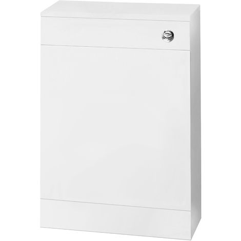 Nuie NVS142 Mayford | Modern Bathroom Floor Standing Cloakroom WC Unit With Free Concealed Cistern , 500mm x 770mm, Gloss White