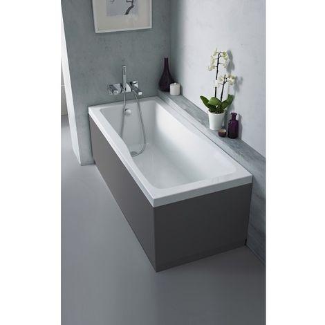 Nuie OFF970 Athena   Modern Bathroom MFC End Panel For Straight Baths, 700mm, Gloss Grey