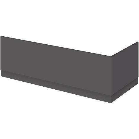 Nuie OFF972 Athena   Modern Bathroom MFC End Panel For Straight Baths, 800mm, Gloss Grey