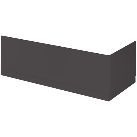 Nuie OFF977 Athena | Modern Bathroom MFC Front Panel For Straight Baths, 1700mm, Gloss Grey