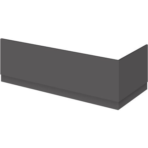 Nuie OFF978 Athena | Modern Bathroom MFC Front Panel For Straight Baths, 1800mm, Gloss Grey