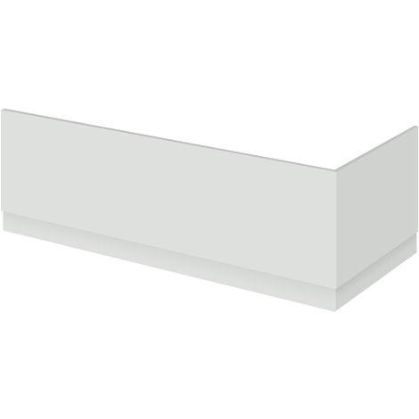 Nuie OFG471 Athena | Modern Bathroom MFC End Panel For Straight Baths, 750mm, Gloss Grey Mist