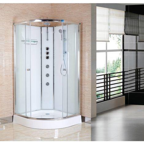 Nuie Opus Polar White 1200mm x 800mm Right Hand Offset Quadrant Shower Cabin - OPUS04-WR