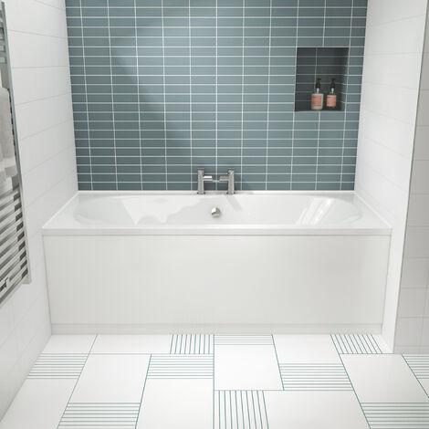 Nuie Otley Double Ended Rectangular Bath 1800mm x 800mm - Acrylic