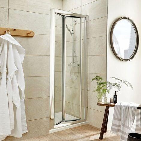 Nuie Pacific Bi-Fold Shower Door 900mm Wide - 4mm Glass