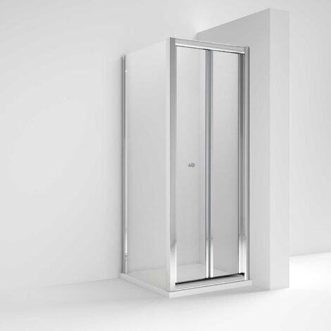 Nuie Pacific Bi-Fold Shower Enclosure 800mm x 800mm with Shower Tray - 4mm Glass