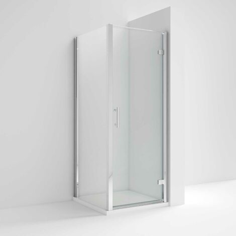Nuie Pacific Hinged Shower Enclosure 900mm x 900mm with Shower Tray - 6mm Glass