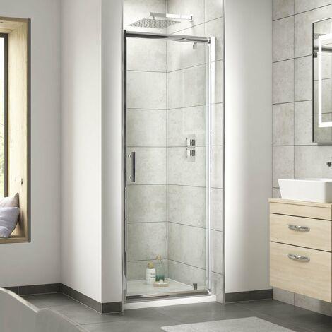 Nuie Pacific Pivot Shower Door 700mm Wide - 6mm Glass