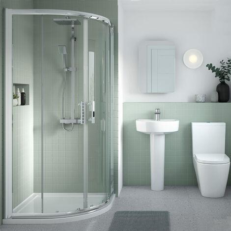 Nuie Pacific Quadrant Shower Enclosure 1000mm x 1000mm - 6mm Glass