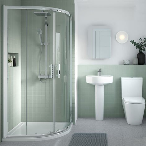 Nuie Pacific Quadrant Shower Enclosure 900mm x 900mm - 6mm Glass