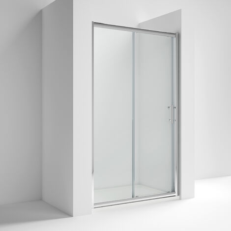 """main image of """"Nuie Pacific Sliding Shower Door 1100mm Wide - 6mm Glass"""""""