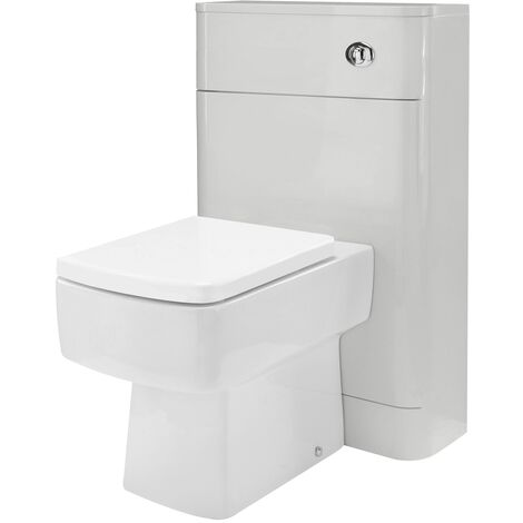 Nuie Parade Gloss Grey Mist 550mm Toilet Unit - PMP441