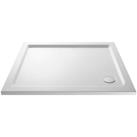 Nuie Pearlstone 1100mm x 700mm Rectangular Shower Tray with Corner Waste - NTP016