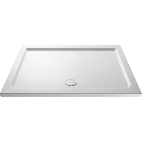Nuie Pearlstone 1600mm x 700mm Rectangular Shower Tray with Centre Edge Waste - NTP051