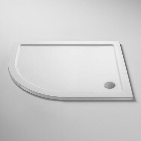 Nuie Pearlstone Offset Quadrant Shower Tray 900mm x 760mm Left Handed