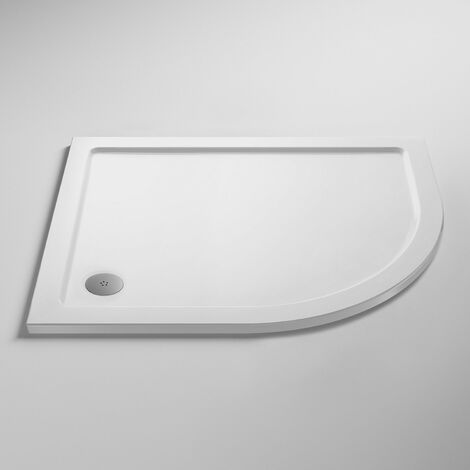 Nuie Pearlstone Offset Quadrant Shower Tray 900mm x 800mm Right Handed