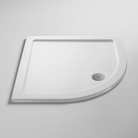 Nuie Pearlstone Quadrant Shower Tray 700mm x 700mm - White