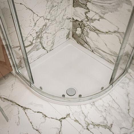 Nuie Pearlstone Quadrant Shower Tray 900mm x 900mm Acrylic