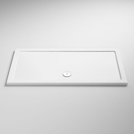 """main image of """"Nuie Pearlstone Rectangular Shower Tray 1300mm x 800mm - White"""""""
