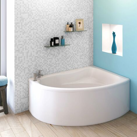 Nuie Pilot Offset Corner Bath and Panel 1450mm x 950mm Right Handed