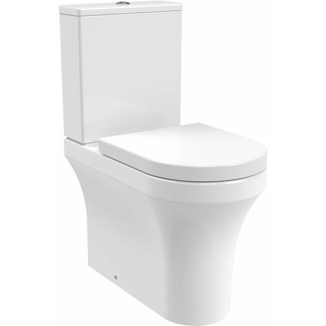 Nuie Provost BTW Close Coupled Toilet with Dual Flush Cistern - Soft Close Seat