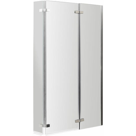 Nuie Quattro Bath Screen with Double Hinged 1400mm High