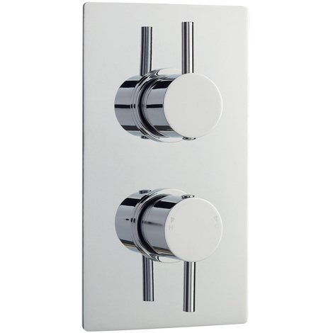 Nuie Quest Twin Thermostatic Shower Valve with Diverter - QUEV52