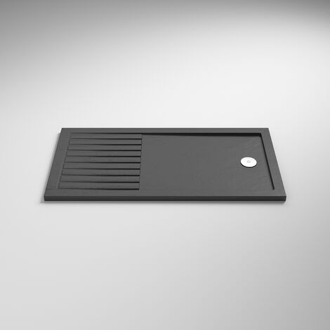 Nuie Rectangular Walk-In Shower Tray 1400mm x 800mm Acrylic - Slate Grey