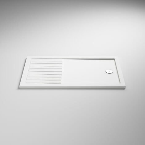 Nuie Rectangular Walk-In Shower Tray 1600mm x 800mm Acrylic - White