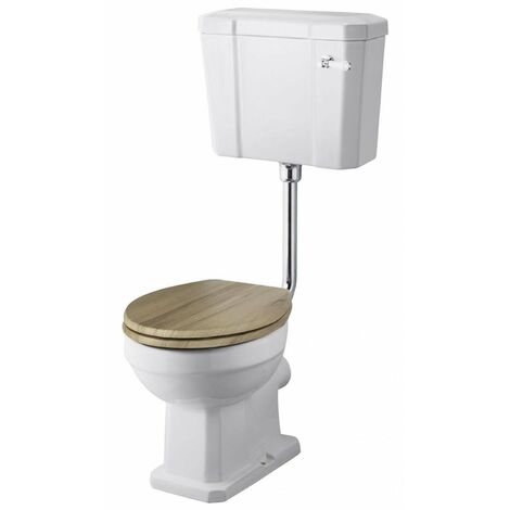 Nuie Richmond Low Level Toilet with Lever Cistern - Excluding Seat and CP Flushpipe