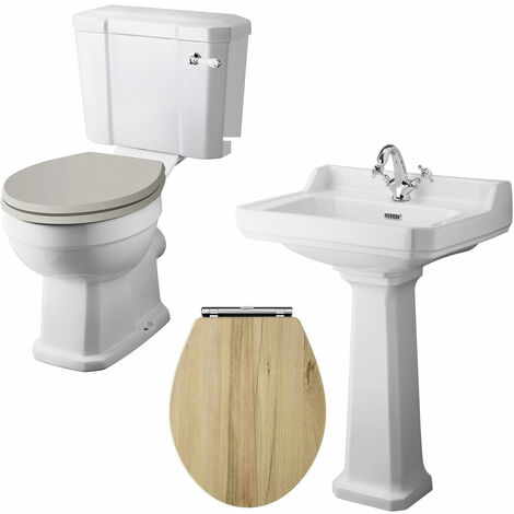 """main image of """"Nuie Richmond Traditional Bathroom Suite 595mm Wide - 1 Tap Hole"""""""