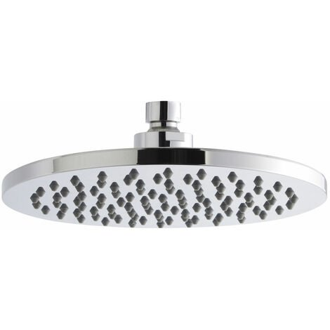 Nuie Round Fixed Shower Head, 200mm Diameter, Chrome