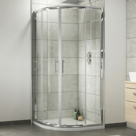 Nuie Shower Enclosure Pack 800mm Quadrant Twin Shower and Kit