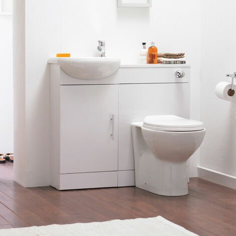 Nuie Sienna Combination Furniture Pack With WC Unit 500mm without Tap