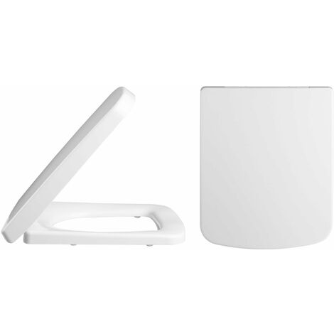 """main image of """"Nuie Square D-Shape Soft Close Toilet Seat - White"""""""