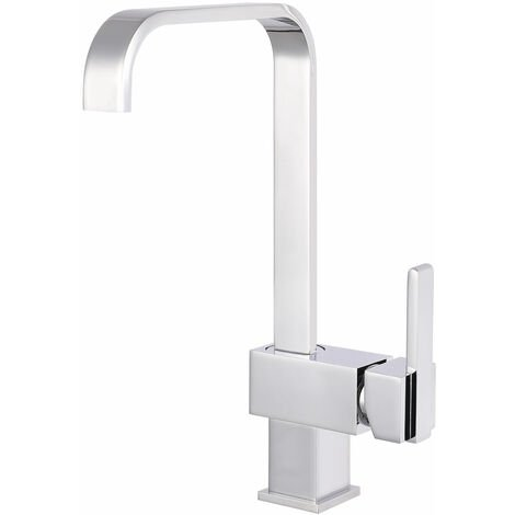 """main image of """"Nuie Square Kitchen Sink Mixer Tap - Chrome"""""""