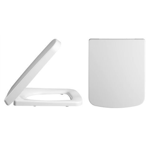 Nuie Square Soft Close Toilet Seat - NCH196