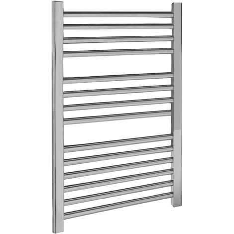 Nuie Straight Ladder Chrome 500mm x 700mm Heated Towel Rail - HK381