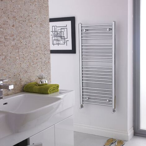 Nuie Straight Ladder Towel Rail 1100mm H x 500mm W - Chrome