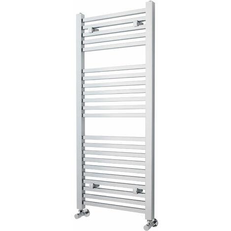 Nuie Straight Ladder Towel Rail 1200mm H x 500mm W - Chrome