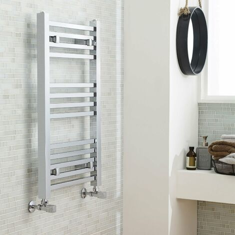 Nuie Straight Ladder Towel Rail 800mm H x 500mm W - Chrome